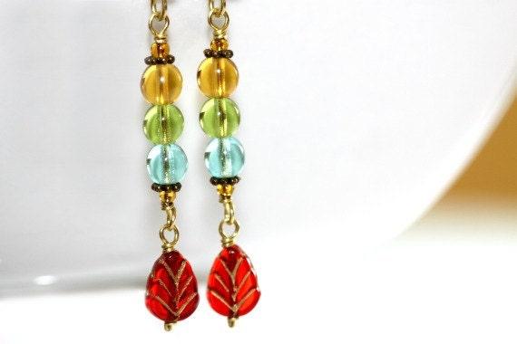 Colorful Earrings - 'Crazy Nun'
