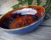 Blue bowl With Slip Trailings