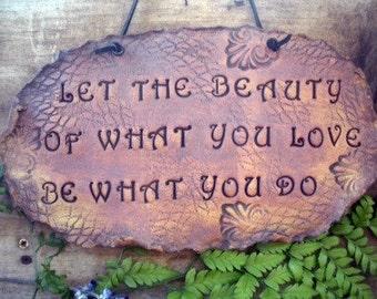 Let The Beauty Of What You Love Be What You Do Wall Hanging Organic