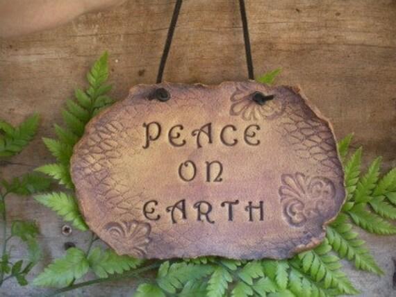 Peace On Earth Organic Wall Hanging