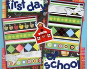 12 x 12 Premade Scrapbook Layout Boy Girl -- First Day of School