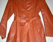 Vintage Jet Set - Belted Leather Coat