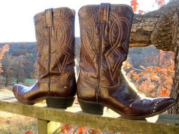 Patent Leather Cowgirl - Vintage Rockabilly Western Cowgirl Boots