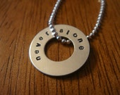 Never Alone Sterling Silver Necklace - depression/addiction/suicide prevention