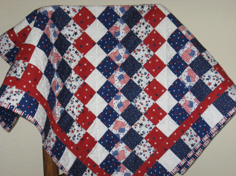Handmade Patriotic Patchwork Quilt
