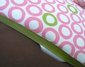 Robert Kaufman Mingle Collection All-in-One Travel baby wipes case with Diaper Strap