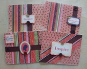 Inspire themed Handcrafted Greeting Card Set