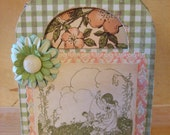 Springtime Fairies Decoupaged Gift Box and Note Card Set