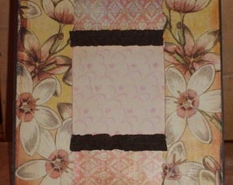 Beautiful Flowers Decoupaged Picture Frame