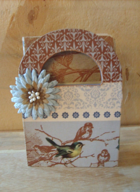 Blue Bird and Flower Gift Box and Note Card Set