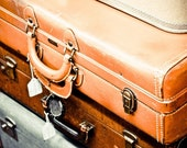 The Leaving on a Jet Plane Suitcases - 8x12 Fine Art Print