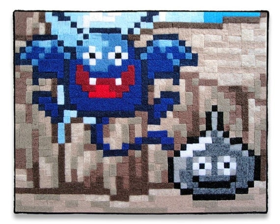 Dragon Quest Dracky and Metal Slime 8 x 10 Felt Collage