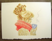 Cozy Greeting Card - Watercolor