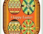 Ukrainian Easter Pysanky card