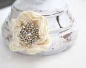 Flower and Sparkle 3-6 months Baby Headband