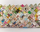The Sunday Funny Papers Clutch - Candy Wrapper Style