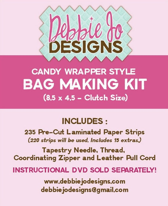 Candy Wrapper Style Bag Making Kit (8.5 x 4.5)