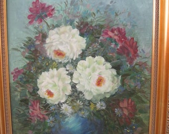 Still life flower oil painting