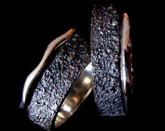 silver wedding band rings