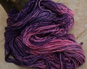 Purple Pink Blush - handspun yarn. Super Bulky Merino superwash, 94m/103yd    449