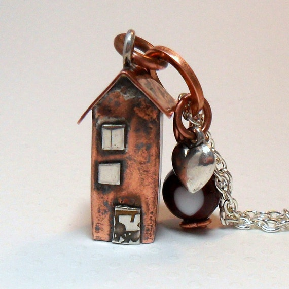 No8 Copper Town House  Necklace