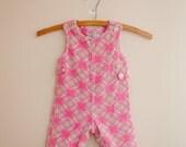Vintage Health-tex pink baby corduroy overalls