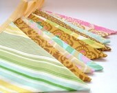 Bright Colourful Party Bunting - FIESTA in Yellow -  9 Feet Long PLUS ties, a perfect decoration for Weddings, Birthdays, Easter, Baby Showers and would be gorgeous in Photographs.  Great for both boys and girls.