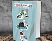 Birthday Card / Shoes Wine Chocolate