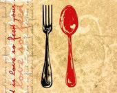Food is Love / Signed Art Print / 8 x 10