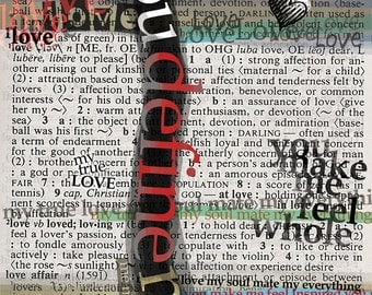 Graffiti Love / You Define Me / Signed Art Print / 8 x 10 Print