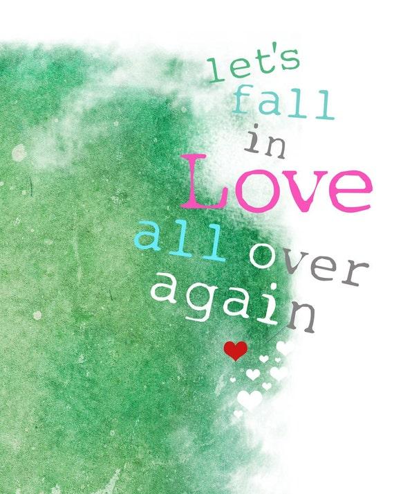 My Love Valentine Art Print Sweetest Day Signed Art Print / 8 x 10