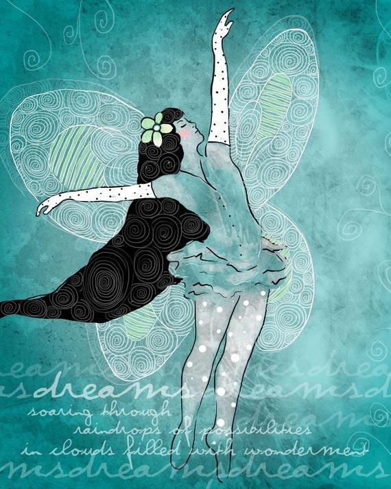 In My Dreams / original illustration ART Print SIGNED /  8 x 10