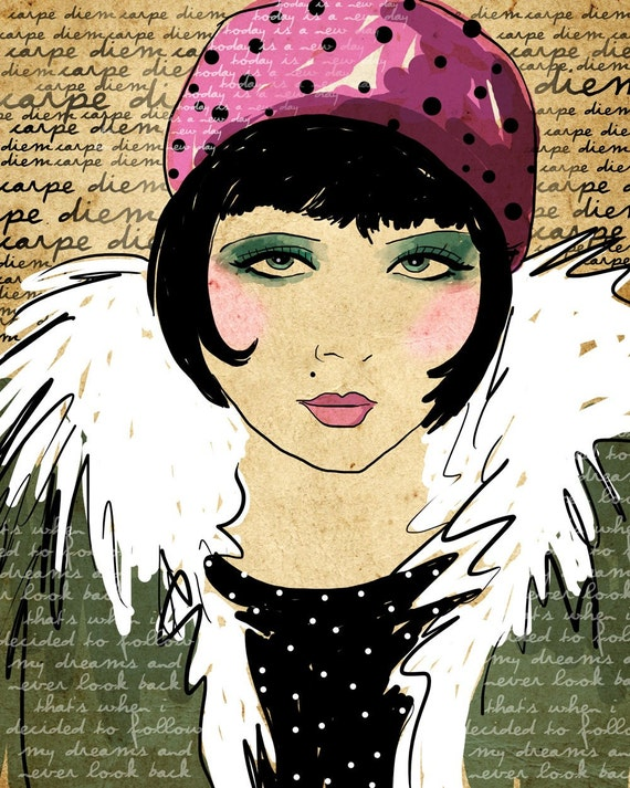 Carpe Diem / Seize The Day / original illustration ART Print SIGNED / 8 x 10