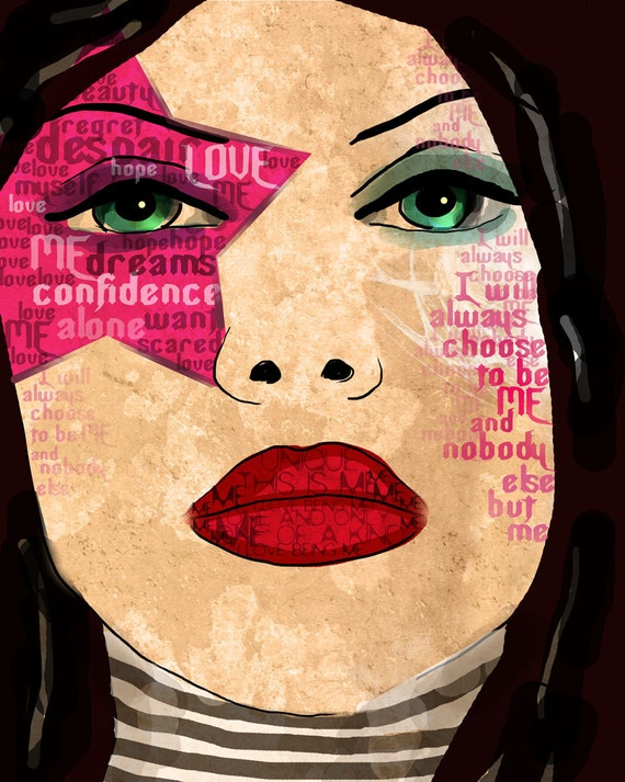 Me / Confidence / original illustration ART Print SIGNED / 8 x 10 / NEW