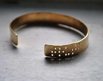 TRUTH - braille engraved cuff