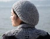 siver grey mohair hat Charlene