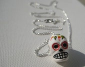 Mexican 'Day of the Dead' Skull Necklace - Authentic  - by LightBlueSquare - UK Seller Worldwide Shipping