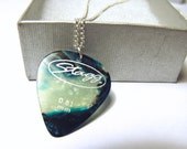 Weathered Waves Guitar Pick Necklace - UK seller Worldwide Shipping Avaliable