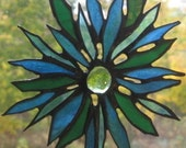 Stained Glass Floral Suncatcher