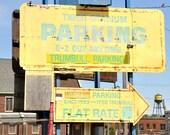 Photography Print of the Detroit Tiger Stadium Baseball Parking Sign