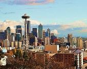Seattle Skyline Wall Art Home Decor Photography Print