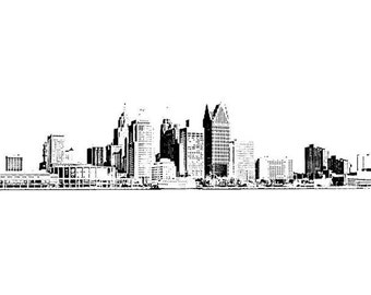 Detroit Panoramic Skyline Photography Print