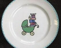 Guest Book Alternative New Baby Shower Keepsake plate