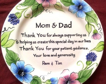 Wedding Gift For Mom And Dad : Wedding MOTHER of the BRIDE GIFT personalized to Mom and Dad - wedding ...