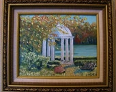 Core Creek Park in the Fall  8in x 10in Oil Paint on Canvas Board (Framed)