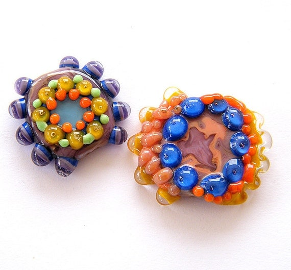 Happy Handmade lampwork beads sale - special  shapes