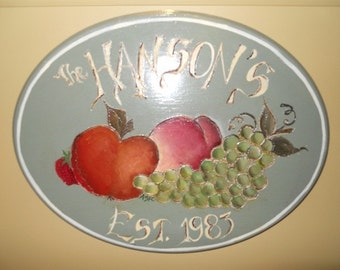 Hand painted Welcome Plaque