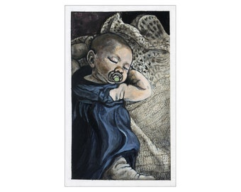 Sleeping Baby print of an original painting
