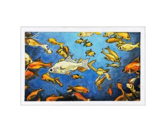 Fish in a Tank print of an original painting