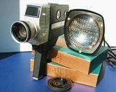 Vintage, Keystone, 8 MM, movie camera & 8mm light: movie making, 1960s, interior design, vestiesteam.